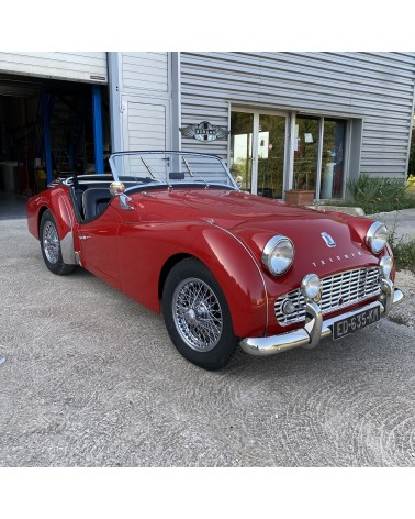 Very rare Triumph TR3 B - spoke wheels
